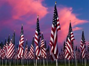American Flags, Lubbock, Texas, TX